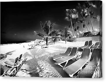 Beach Lounging Canvas Print by John Rizzuto