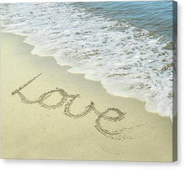 Beach Love Canvas Print by Jocelyn Friis