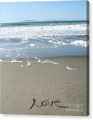 Beach Love Canvas Print by Linda Woods