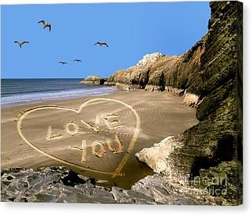 Beach Love Canvas Print