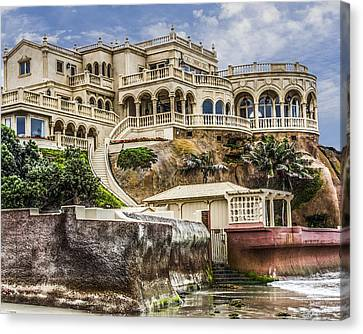 00003 La Jolla Beach Mansion Canvas Print by Photographic Art by Russel Ray Photos