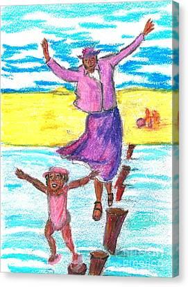 Beach Memory  Canvas Print