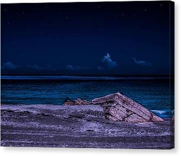 Canvas Print featuring the photograph Beach Night by Randy Sylvia