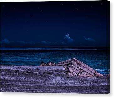 Beach Night Canvas Print