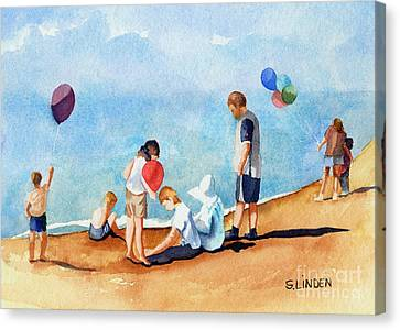 Beach Party Canvas Print by Sandy Linden