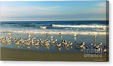 Sofa Size Canvas Print - Beach Party by Shelia Kempf