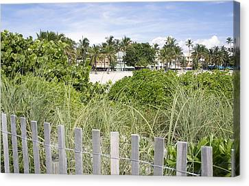 Canvas Print featuring the photograph Beach Path by Laurie Perry