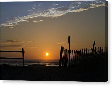 Beach Path Sunrise Canvas Print by Bill Cannon