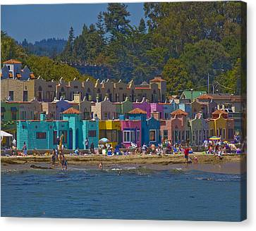 Canvas Print featuring the photograph Beach Play by Tom Kelly