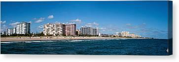 Pompano Canvas Print - Beach, Pompano Beach, Florida, Usa by Panoramic Images