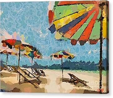 Beach Rainbows Canvas Print by Dragica  Micki Fortuna