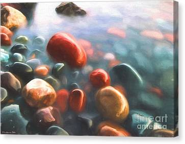 Beach Rocks Canvas Print by Veikko Suikkanen