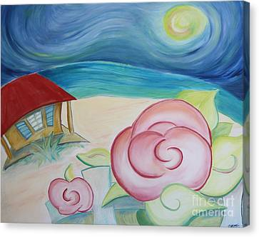 Beach Rose Canvas Print by Teresa Hutto