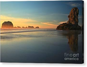 Beach Rudder Canvas Print by Adam Jewell