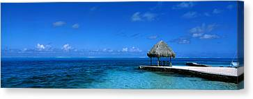 Beach Scene Bora Bora Island Polynesia Canvas Print