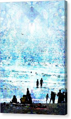 Beach Scene Expressions Canvas Print by John Fish
