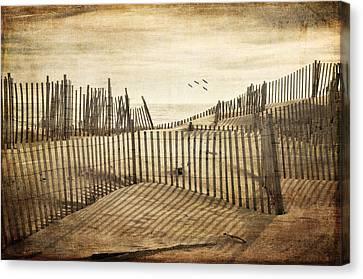Beach Shadows Canvas Print