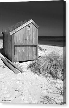 Beach Shed Canvas Print by Michelle Wiarda