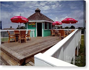 Canvas Print featuring the photograph Beach Shop by Tom Brickhouse