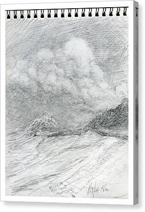 Beach Sketch 13 Canvas Print by Kenneth Grzesik