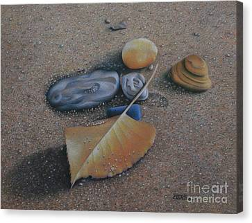 Canvas Print featuring the painting Beach Still Life IIi by Pamela Clements
