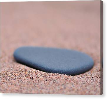 Beach Stone At Park Point Minnesota Canvas Print by Todd Soderstrom