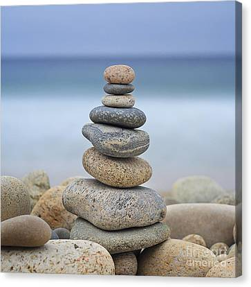 Beach Stones Canvas Print by Katherine Gendreau