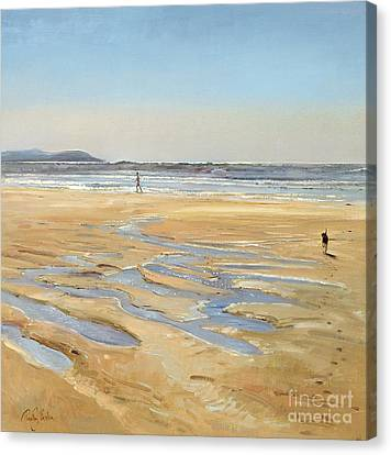 Beach Strollers  Canvas Print by Timothy  Easton