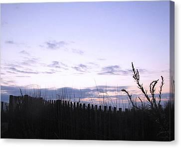 Canvas Print featuring the photograph Beach Sunrise 2 by Melissa Stoudt