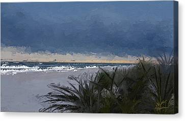 Beach Sunrise Abstract  Canvas Print by Anthony Fishburne