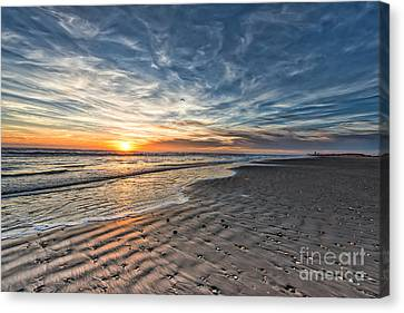 Beach Sunrise Canvas Print by Tod and Cynthia Grubbs