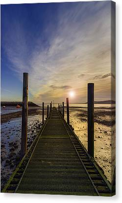 Beach Sunrise V2 Canvas Print by Ian Mitchell