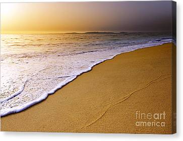 Beach Sunset Canvas Print by Carlos Caetano