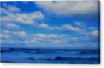 Beach Through Artificial Eyes Canvas Print by David Mckinney