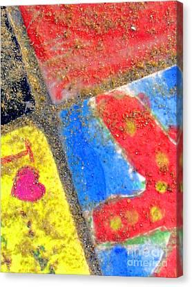 Beach Tiles Canvas Print