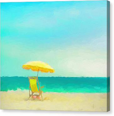Canvas Print featuring the painting Got Beach? by Douglas MooreZart