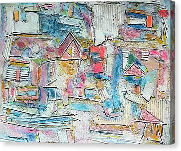 Beach Town Canvas Print by Hari Thomas