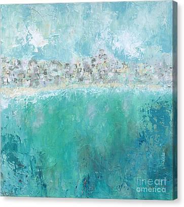 Beach Town Canvas Print by Kirsten Reed
