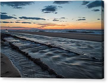 Beach Tracks Canvas Print by Kristopher Schoenleber