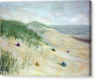 Canvas Print featuring the mixed media Beach Treasures by Kenny Henson