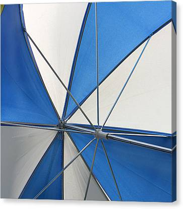 Beach Umbrella Canvas Print by Art Block Collections