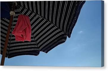 Beach Umbrella Canvas Print by John Wartman