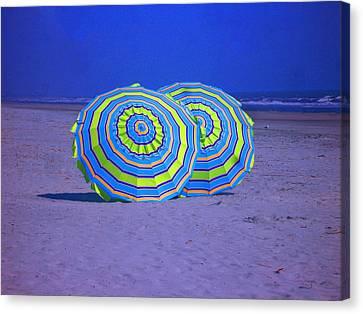 Beach Umbrellas By Jan Marvin Studios Canvas Print