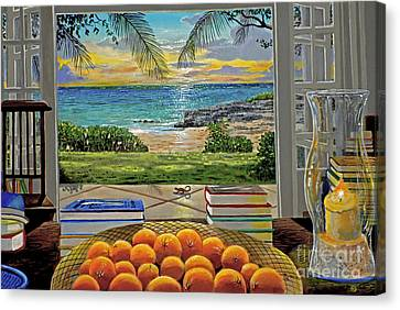 Candle Lit Canvas Print - Beach View by Carey Chen