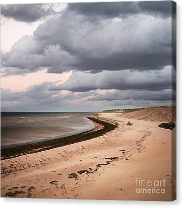 Beach View With Storm Clouds Canvas Print by Elena Elisseeva
