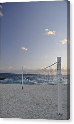 Beach Volleyball Canvas Print by A R Williams