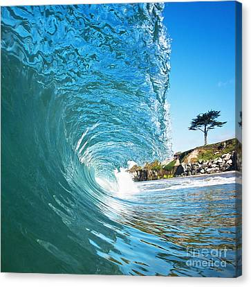 Beach Wave Canvas Print by Paul Topp