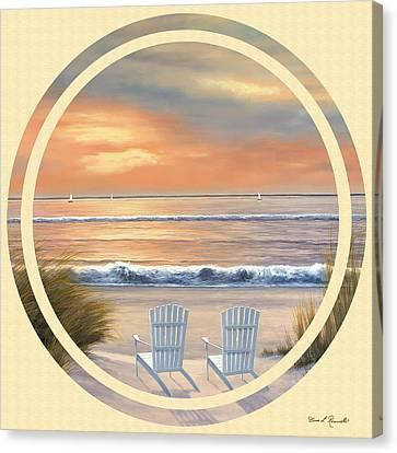 Beach World Canvas Print by Diane Romanello