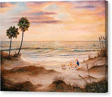 Beachcombers Canvas Print by Duane R Probus