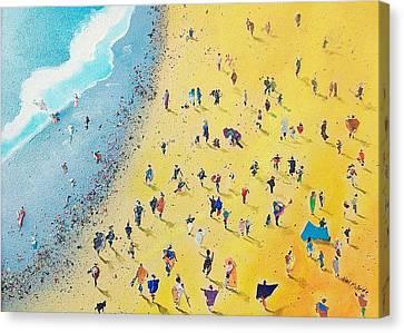 Beachcombing Canvas Print by Neil McBride